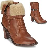 Clarks , Lisette Blues Women's Low Ankle Boots In Brown
