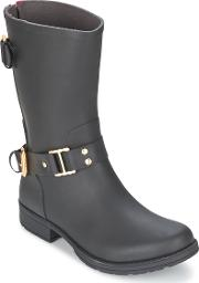 Colors Of California , Classic Short Women's Low Ankle Boots In Black