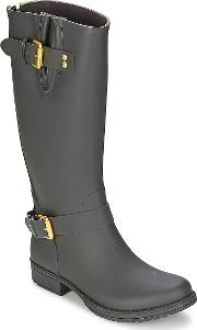 Colors Of California , Classic Tall Women's Wellington Boots In Black
