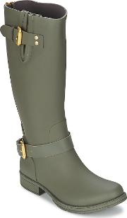 Colors Of California , Classic Tall Women's Wellington Boots In Green