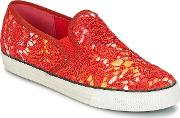 Colors Of California , Lace Slip Women's Slip-ons (shoes) In Multicolour