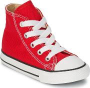Converse , All Star Hi Girls's Shoes (high-top Trainers) In Red