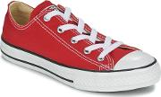 Converse , All Star Ox Girls's Shoes (trainers) In Red