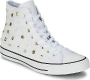 Converse , All Star Painted Hardware Hi Women's Shoes (high-top Trainers) In White
