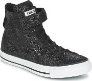Converse , Chuck Taylor All Star Brea Cuir Hi Women's Shoes (high-top Trainers) In Black