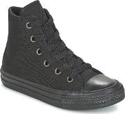 Converse , Chuck Taylor All Star Ii Hi Girls's Shoes (high-top Trainers) In Black
