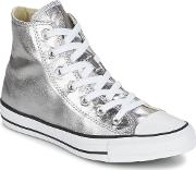 Converse , Chuck Taylor All Star Metallics Hi Women's Shoes (high-top Trainers) In Silver