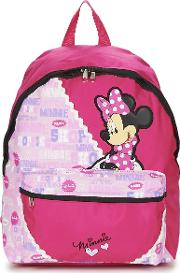 Disney , Minnie Scratch Dots Sac A Dos Borne Girls's Backpack In Pink