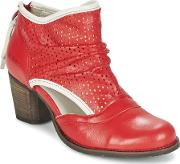 Dkode , Bahal Women's Low Ankle Boots In Red
