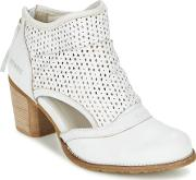Dkode , Bahal Women's Low Ankle Boots In White