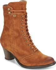 Dkode , Vivianna-cognac-016 Women's Low Ankle Boots In Brown