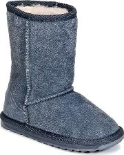 Emu , Wallaby Lo Girls's Mid Boots In Blue