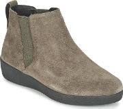 Fitflop , Super Chelsea Boot Suede Women's Low Ankle Boots In Brown