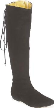 French Sole , Prince Women's High Boots In Black