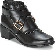 Ftroupe , F-troupe Double Buckle Boot Women's Low Ankle Boots In Black
