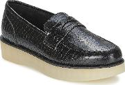 Ftroupe , F-troupe Penny Loafer Women's Loafers  Casual Shoes In Black