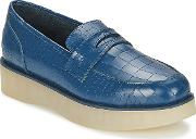 Ftroupe , F-troupe Penny Loafer Women's Loafers  Casual Shoes In Blue
