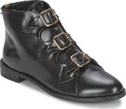 Ftroupe , F-troupe Triple Buckle Boot Women's Low Ankle Boots In Black