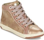 Geox , Creamy Girls's Shoes (high-top Trainers) In Beige