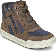 Geox , Elvis Boys's Shoes (high-top Trainers) In Brown