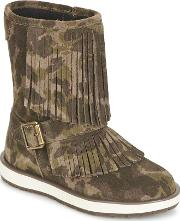 Geox , Noha Girls's Mid Boots In Green