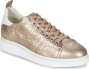 Geox , Thymar A Women's Shoes (trainers) In Gold