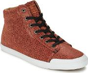 Hub Footwear , Jersey Women's Shoes (high-top Trainers) In Brown