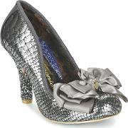Irregular Choice , Ascott Women's Court Shoes In Silver