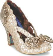 Irregular Choice , Curtain Call Women's Court Shoes In Gold