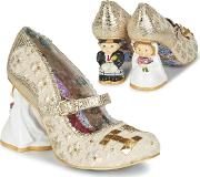 Irregular Choice , I Love You Women's Court Shoes In Gold