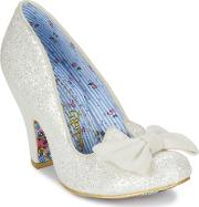 Irregular Choice , Nick Of Time Women's Court Shoes In White