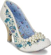 Irregular Choice , Pearly Girly Women's Court Shoes In White
