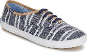 Keds , Champion Washed Beach Stripe Women's Shoes (trainers) In Blue