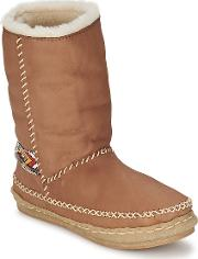 Laidback London , Naira Women's Mid Boots In Brown