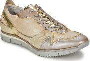 Manas ,  Women's Shoes (trainers) In Gold