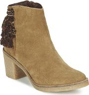Miista , Brianna Women's Low Ankle Boots In Brown