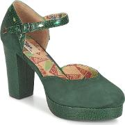 Miss Lfire , Miss L'fire Christie Women's Court Shoes In Green