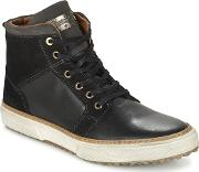 Pantofola Doro , Pantofola D'oro Benevento Fur Mid Men's Shoes (high-top Trainers) In Black
