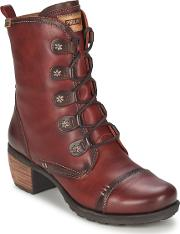 Pikolinos , Le Mans Glico Women's Low Ankle Boots In Red