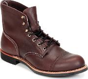 Red Wing , Iron Ranger Men's Mid Boots In Red