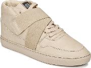 Sixth June , Nation Strap Men's Shoes (high-top Trainers) In Beige