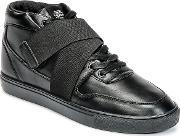 Sixth June , Nation Strap Men's Shoes (high-top Trainers) In Black