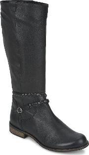 So Size , Bertou Women's High Boots In Black