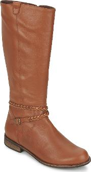 So Size , Bertou Women's High Boots In Brown