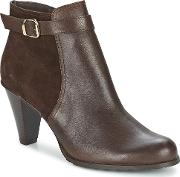So Size , Moseka Women's Low Ankle Boots In Brown