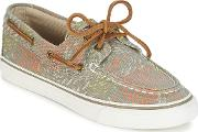 Sperry Topsider , Sperry Top-sider Bahama Fish Circle Women's Boat Shoes In Grey