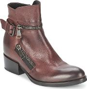 Strategia , Zooli Women's Low Ankle Boots In Red