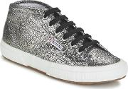 Superga , 2754 Lamew Women's Shoes (high-top Trainers) In Silver
