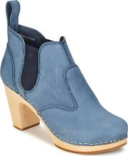 Swedish Hasbeens , Classic Chelsea Boot Women's Low Boots In Blue