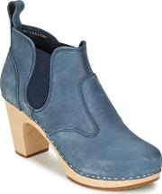 Swedish Hasbeens , Opera Bootie Women's Low Boots In Blue